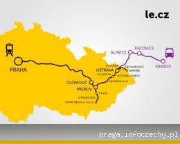 Mapa zasięgu Leo Express